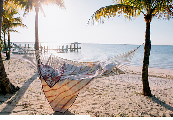 The Bahamas. India Hicks Hammock, see more of her stylish home in her book review on www.CourtneyPrice.com