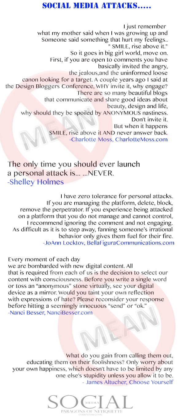 Social Media Attacks, from Social Media: Paragons of Netiquette on www.CourtneyPrice.com http://wp.me/p2e5e8-4Ai