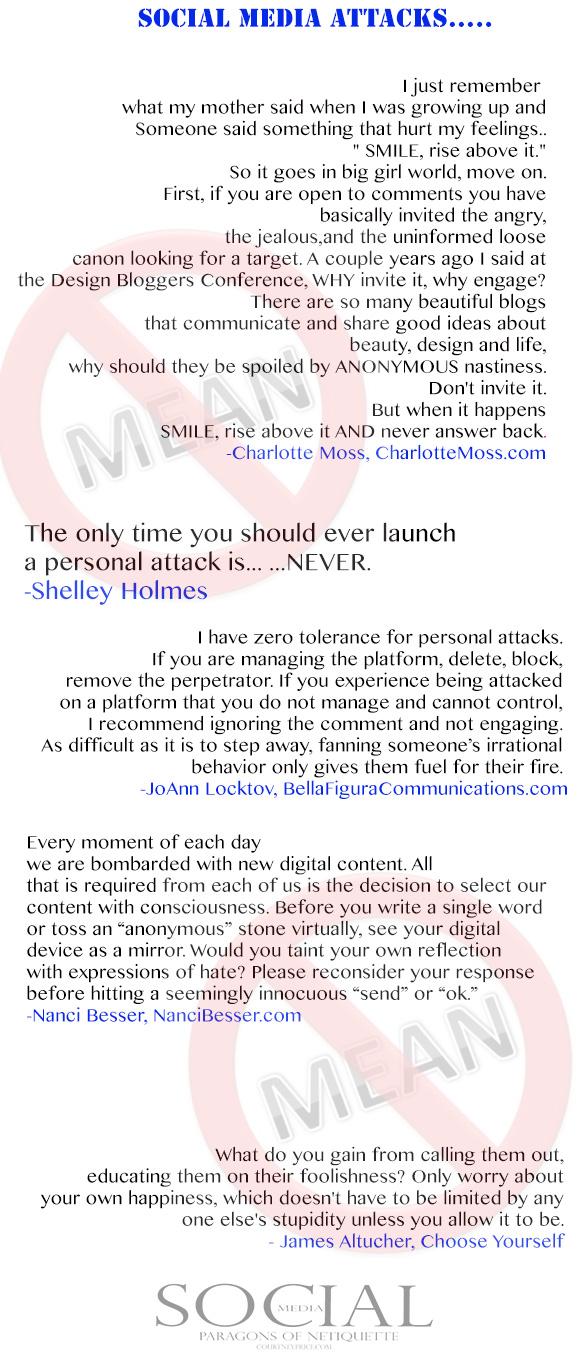 Social Media Attacks, from Social Media: Paragons of Netiquette on www.CourtneyPrice.com http://wp.me/p2e5e8-4Ai