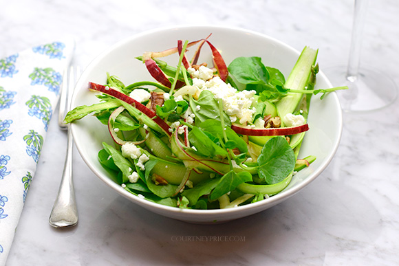 Shaved Asparagus Salad- Healthy Spiralized SPA food- on CourtneyPrice.com http://wp.me/p2e5e8-4Em