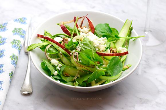 Shaved Asparagus Salad- Healthy Spiralized SPA food- on CourtneyPrice.com http://wp.me/p2e5e8-4Em