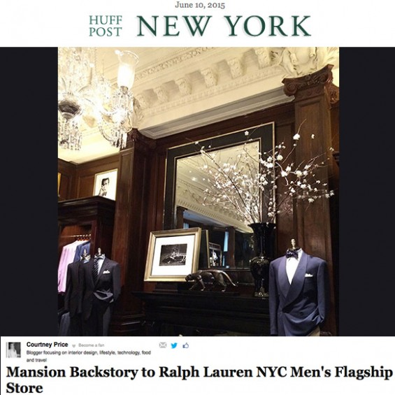 Ralph Lauren's Rhinelander Mansion on Huffington Post:http://www.huffingtonpost.com/courtney-price/rhinelander-mansion-home-_b_7520462.html