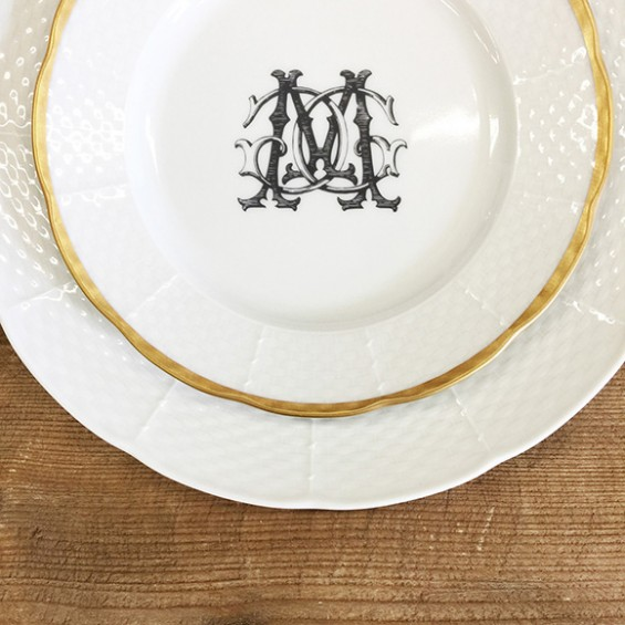 '_Dinner_Gold_Rimmed_Salad_Custom_Couture_Monogram_Black_MG
