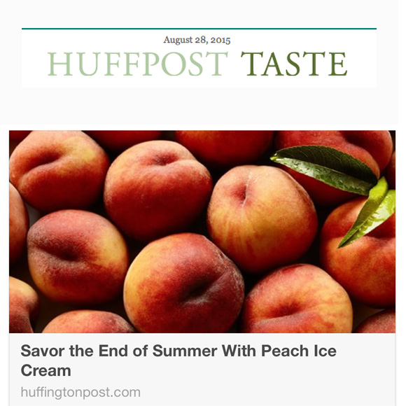 Peach Ice Cream, Huff Post Taste