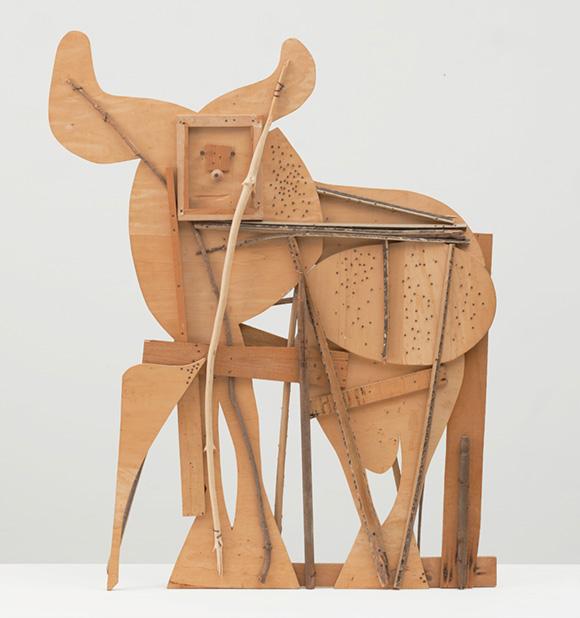 Picasso-Scupture,-MOMA,-BULL,-1958