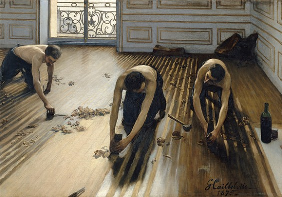 Floor Scrapers, Gustave Caillebotte exhibit at the Kimbell Museum, www.CourtneyPrice.com