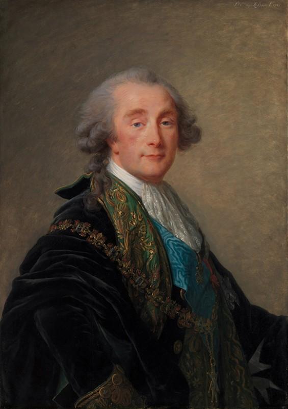 Elisabeth Louise Vigée Le Brun, Alexandre Charles Emmanuel de Crussol-Florensac (1743–1815),1787 Oil on wood, 35 3/8 x 25 1/2 in. (89.9 x 64.8 cm) The Metropolitan Museum of Art, The Jules Bache Collection, 1949 http://wp.me/p2e5e8-4WI