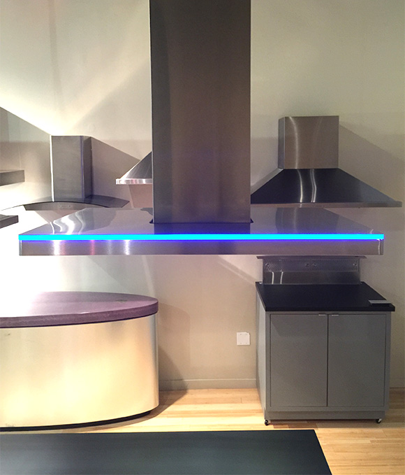 zephyr recently launched the luc island range hood this stunning island hood features fully integrated icon touch controls 3color accent - Zephyr Range Hoods