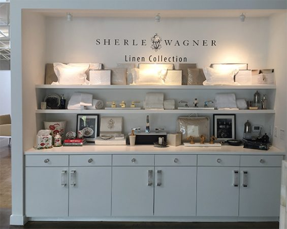 Sherle-Wagner-Linens, sherle wagner showroom, sherle wagner dallas