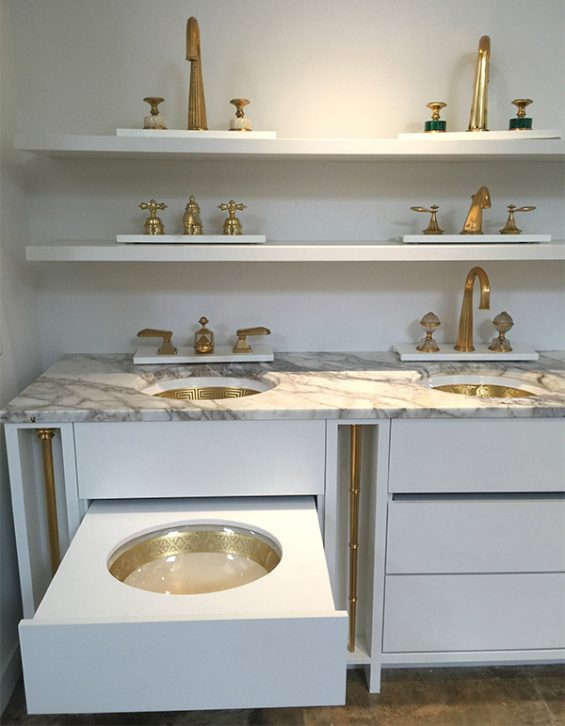 Sherle-Wagner-Sinks-and-faucets, design center, bath fixtures,