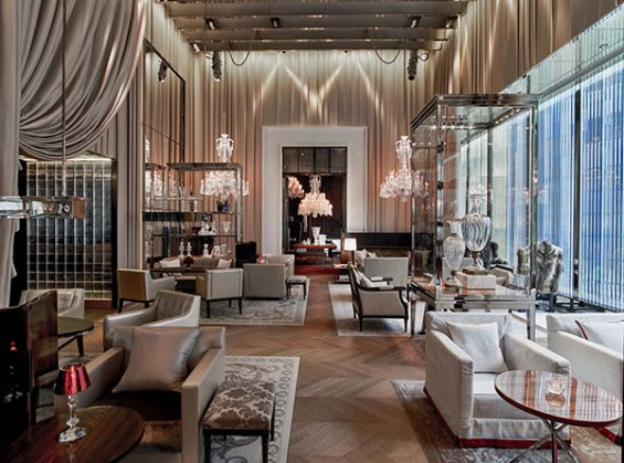 baccarat lobby, baccarat hotel, hospitality design, where to have a drink in NYC, beautiful lobby, midtown hotel, pretty new york lobby, french designers, baccarat brand, 1st baccarat hotel, drinks near the moma, grand salon