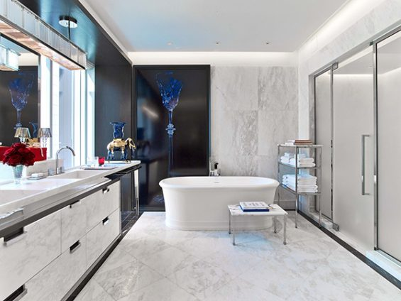 baccarat room, baccarat hotel, new york hotel room, white bathroom, midtown hotel, starwood hotel, 53rd street, luxury hotel, great hotel room, what a master bathroom should be like, marble bath, white marble bath,