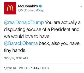 McDonalds tweet and other social media fails on CourtneyPrice.com