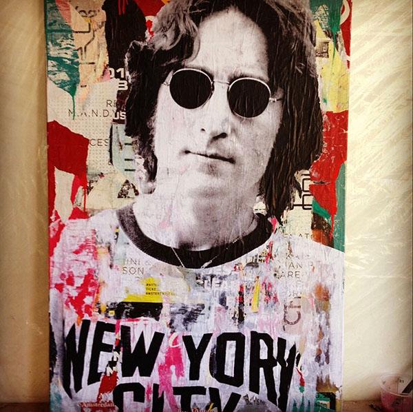 Pop Artist Spotlight: Gieler, John Lennon-  www.courtneyprice.com