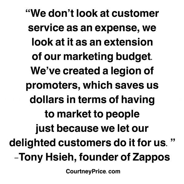 Zappos customer service philosophy on www.courtneyprice.com