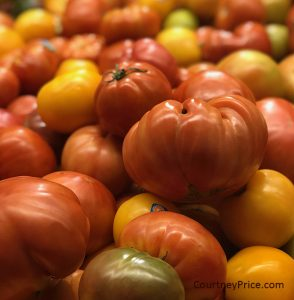 simple recipes for heirloom tomatoes on www.CourtneyPrice.com