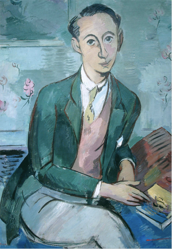 portrait of Christian Dior, as seen on www.CourtneyPrice.com
