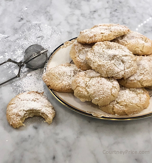 melt in your mouth Almond Cookies, as seen on www.CourtneyPrice.com