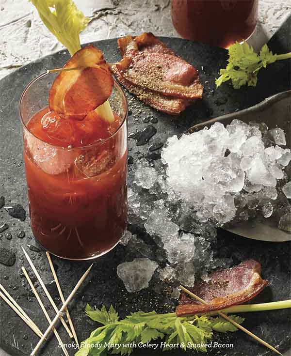 How about a Smoky Bloody Mary with smoked bacon? Breville's smoking gun does this and so much more. As seen on www.CournteyPrice.com