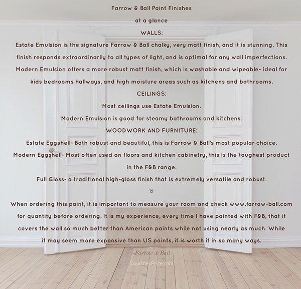 Farrow and Ball paint finishes on www.CourtneyPrice.com