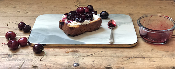 Next time you are at the farmers market, load up on bing cherries because they are incredible this year. Find recipes for Bourbon Cherry Compote and Cherry Clafoutis on www.CourtneyPrice.com