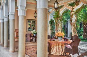 outdoor dining from Meryanne Loum-Martin's book Inside Marrakesh, as seen on CourtneyPrice.com
