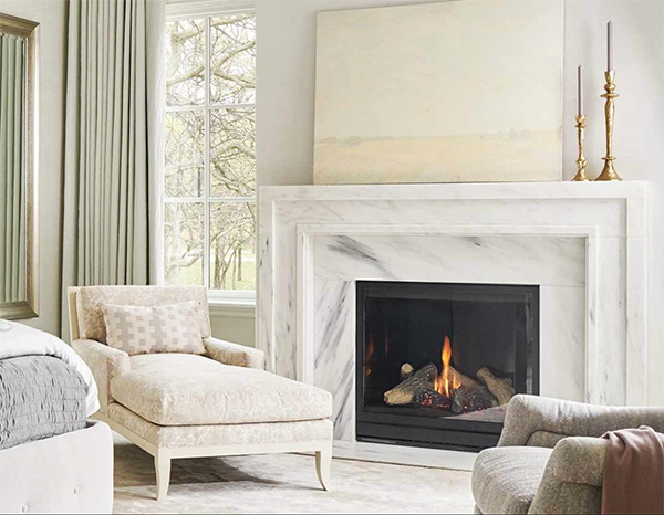 Contemporary Marble Fireplaces by Denis McGaha, as seen on CourtneyPrice.com