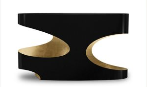 Contemporary console, gold and black, on CourtneyPrice.com