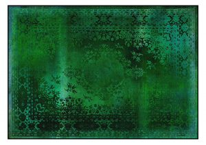Green overdye rug, contemporary resources on CourtneyPrice.com
