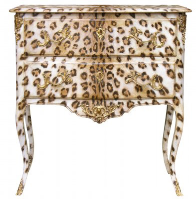 Leopard Chest! Hand painted, french modern, on CourtneyPrice.com