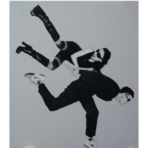 Pedro Bonnin art, inspired by Helmut Newton, on CourtneyPrice.com